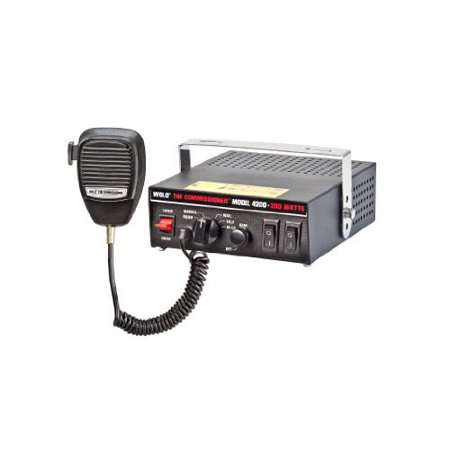 Wolo  Manufacturing 4200 The Commissioner Electronic Siren  Pa   Radio Broadcast System  200W