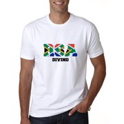 South Africa Diving - Olympic Games - Rio - Flag Men's T-Shirt