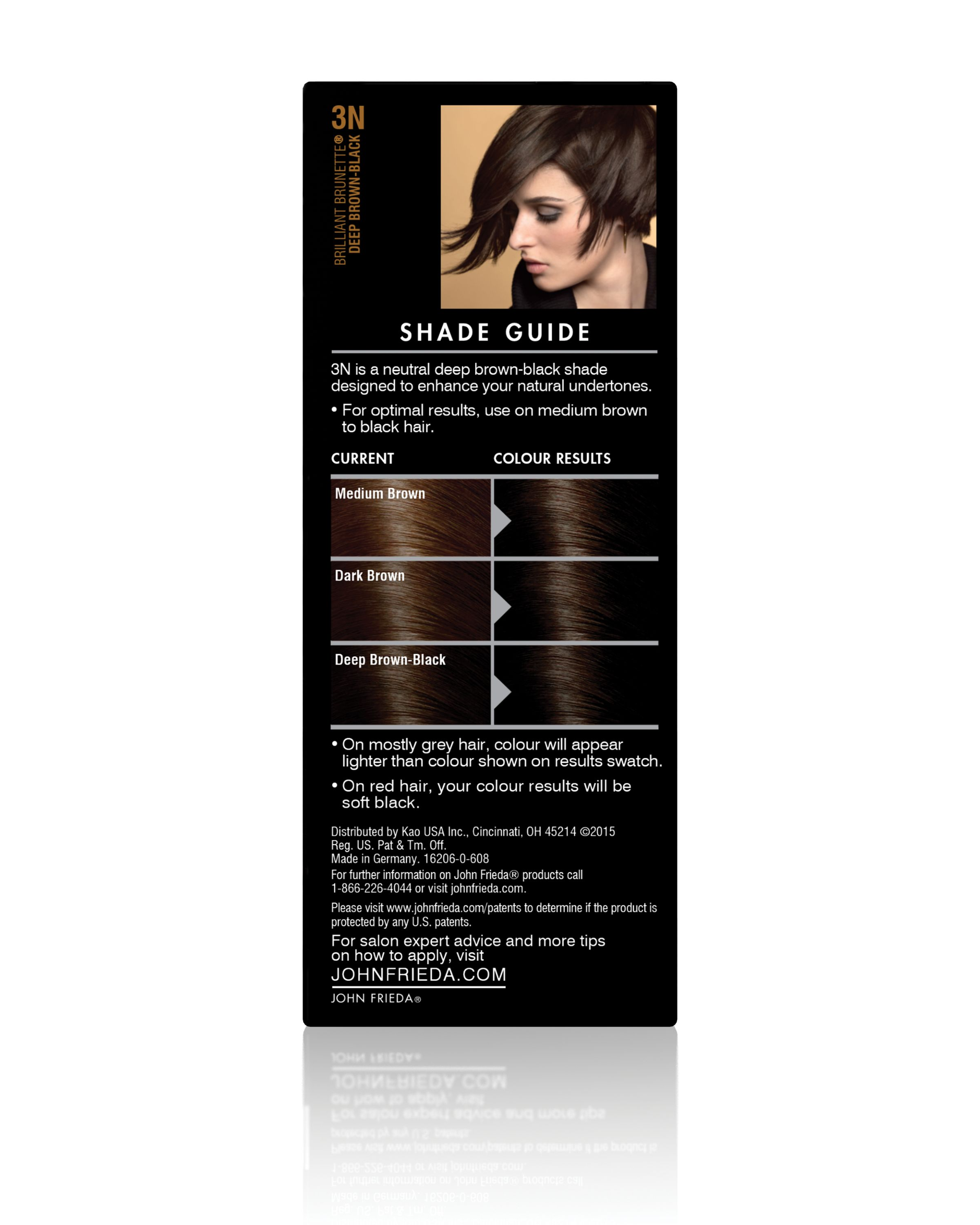 John Frieda Precision Foam Colour, Deep Brown Black 3N, 1apprication