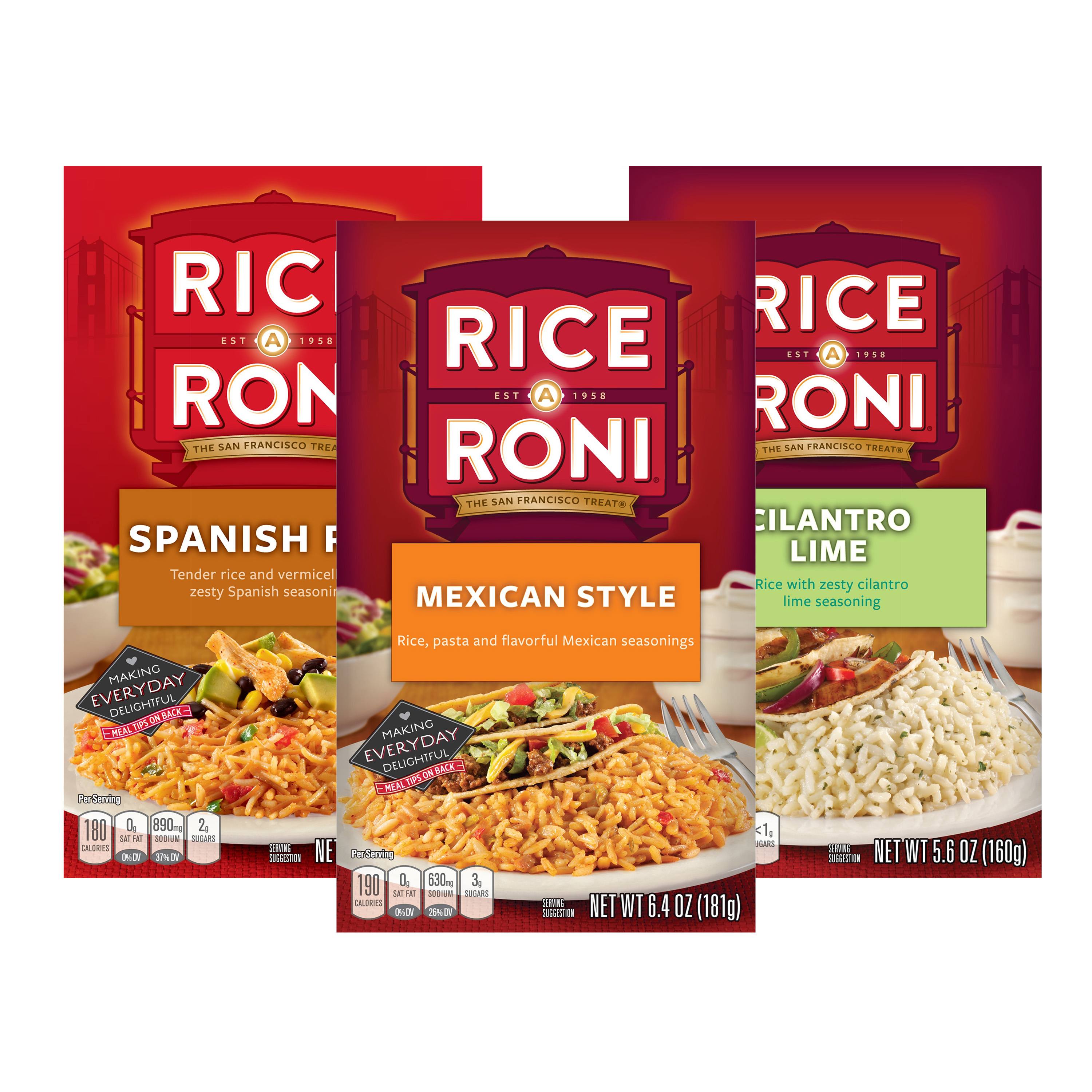 Rice-a-Roni Fiesta Favorites Variety Pack, 10 Boxes