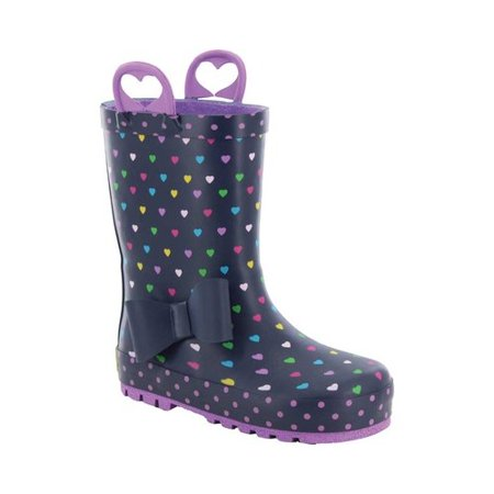 Girls' Western Chief Heart Parade Rain Boot