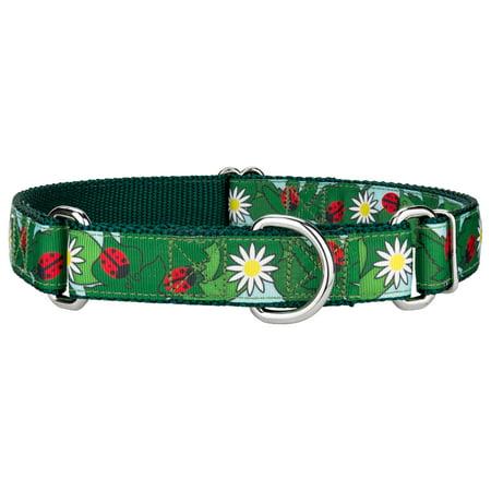 Country Brook Design® Ladybugs Picnic Ribbon Martingale Dog Collar