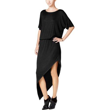 Chelsea Sky Womens Asymmetrical Blouson Casual Dress