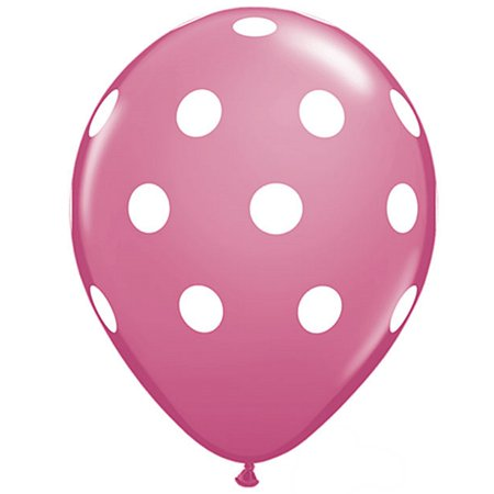 Veil Entertainment Big Polka Dots Around 11 Latex Balloons Rose
