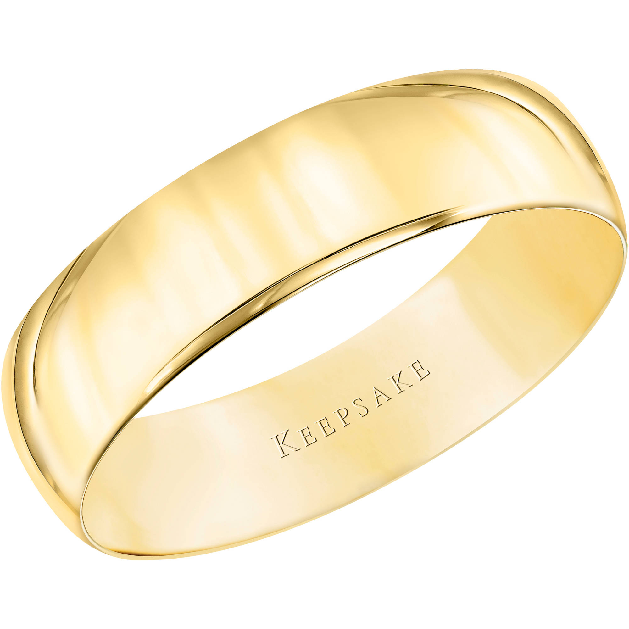 keepsake 10kt yellow gold comfort fit wedding band 55mm walmartcom - Wedding Rings From Walmart