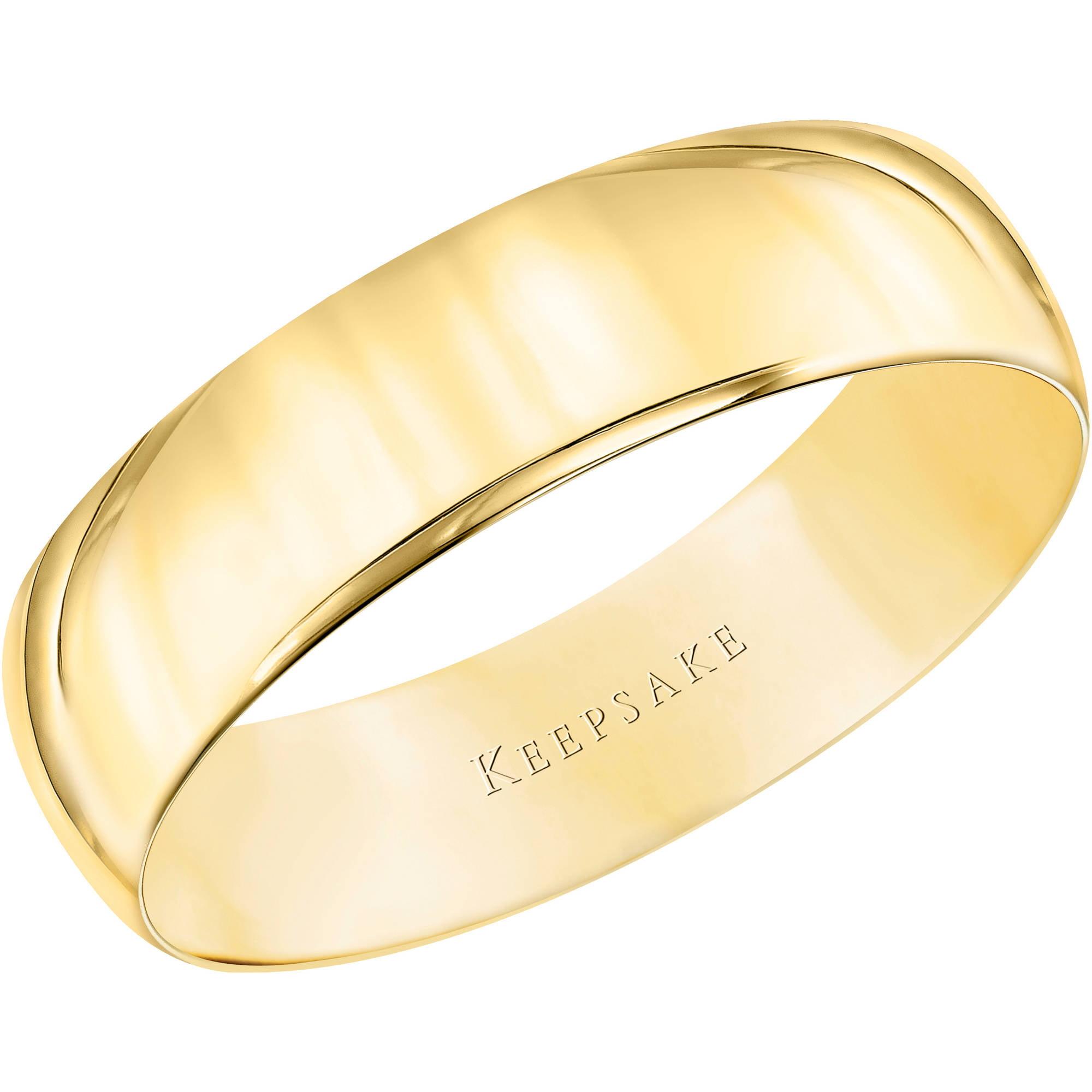Keepsake 10kt Yellow Gold Comfort Fit Wedding Band, 5.5mm