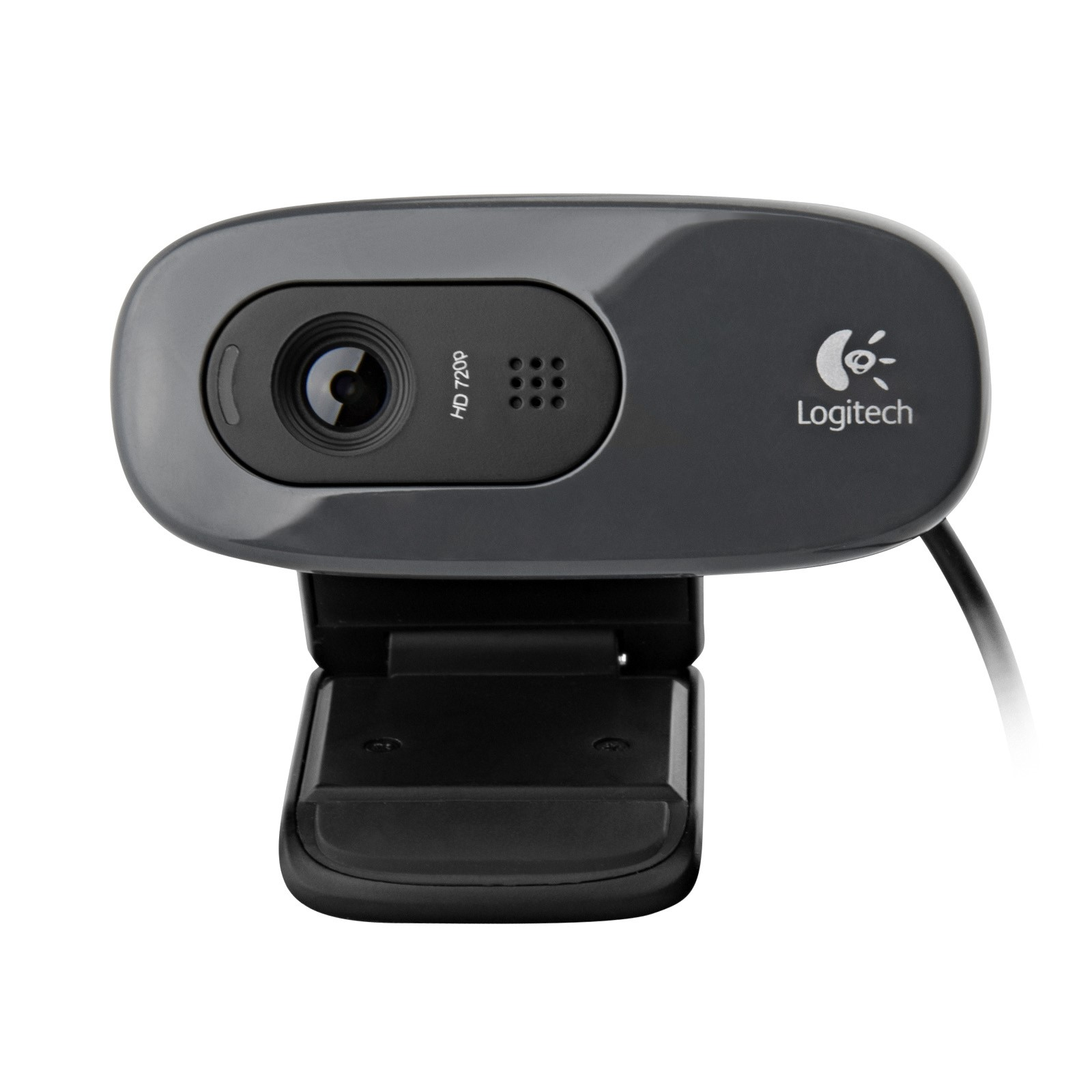 Logitech C270 Desktop or Laptop Webcam (Black) Certified (Certified Refurbished)
