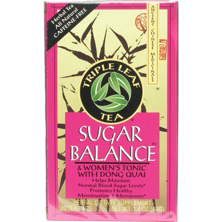 Triple Leaf Tea Sugar Balance Decaffeinated Tea - 20 Tea Bags Triple Sugar Iron