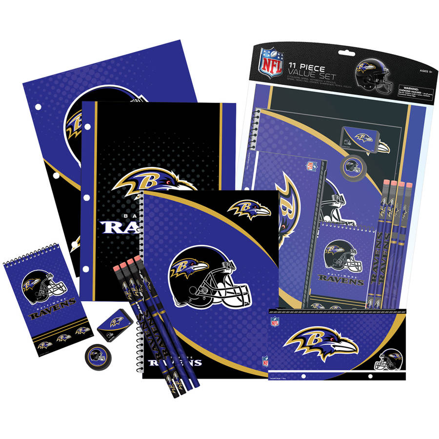 NFL Baltimore Ravens 11 Piece Stationery Set