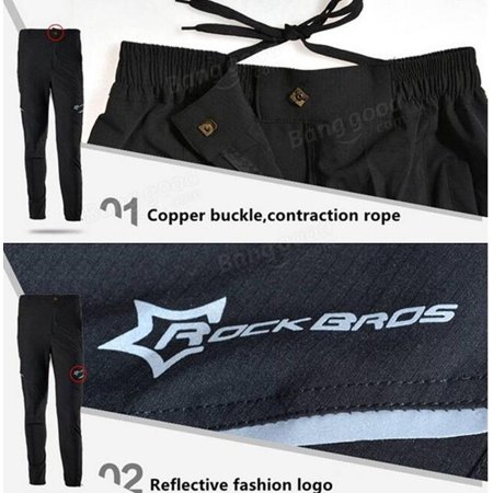 ROCKBROS Unisex MTB Riding Sports Pants Breathable Leisure Pants Cycling Running Trousers Spring And Summer - image 8 of 9