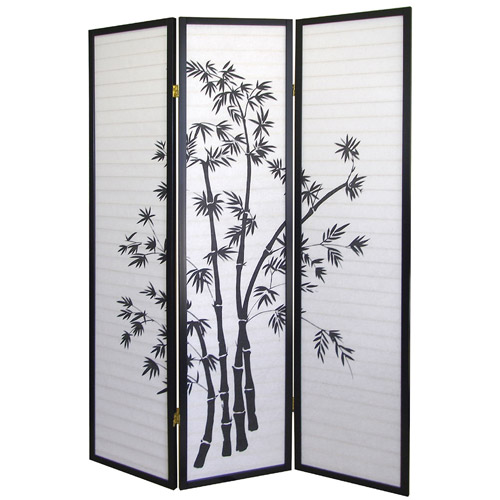 ORE International 3-Panel Room Divider, Bamboo