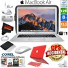 """Apple 13.3  MacBook Air 128GB SSD (MQD32LL/A) + iBenzer Basic Soft-Touch Series Plastic Hard Case & Keyboard Cover for Apple Macbook Air 13-inch 13  Red + 3 Foot Lightning USB Cable 1 Meter Bundle Featuring a thin and lightweight design, the silver mid 2017 Apple 13.3"""" MacBook Air features a unibody aluminum enclosure that weighs less than 3 pounds. At its thickest point, the computer is only 0.68"""" -- it tapers down to 0.11"""" at its thinnest. At 13.3"""" in size, the 16:10 display features a screen resolution of 1440 x 900. It features a glossy finish and LED backlight technology for enhanced image quality and energy efficiency. The system is loaded with 128GB of flash storage rather than an old-fashioned hard drive. Flash storage doesn't just give you a lighter, thinner computer. It also allows for impressive battery life -- up to 12 hours of web browsing and 30 days of standby time. Product Highlights: 1.8 GHz Intel Core i5 Dual-Core 8GB of 1600 MHz LPDDR3 RAM 