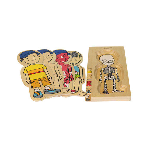 Discoveroo Wooden 5 Layer Boy Puzzle