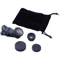 Onn Cell Phone Clip-On 3-in-1 Telephoto Lens Set