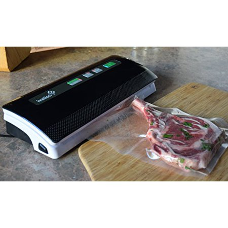 Ivation Vacuum Sealer, for Moist and Dry Food & Non-Food Items, Used for Storage & Sous Vide Cooking with Starter Kit, Seals up to 12-inch Wide Bags (Black)