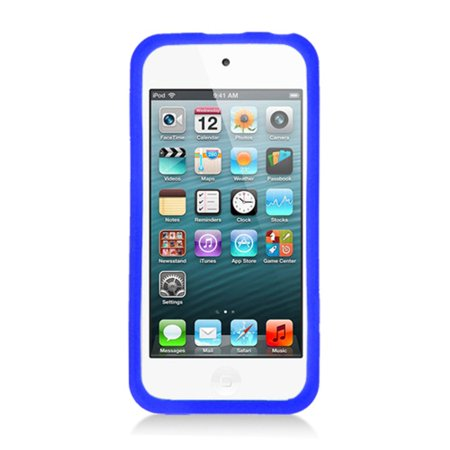 iPod Touch 6th Generation Case, iPod Touch 5th Generation Case, by Insten Cassette Tape Rubber Silicone Soft Skin Gel Case Cover For Apple iPod Touch 5th Gen, Blue - image 2 de 4