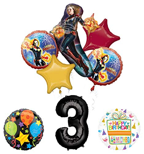 Mayflower Products PJ Masks Gekko 3rd Birthday Party Supplies Balloon Bouquet Decorations