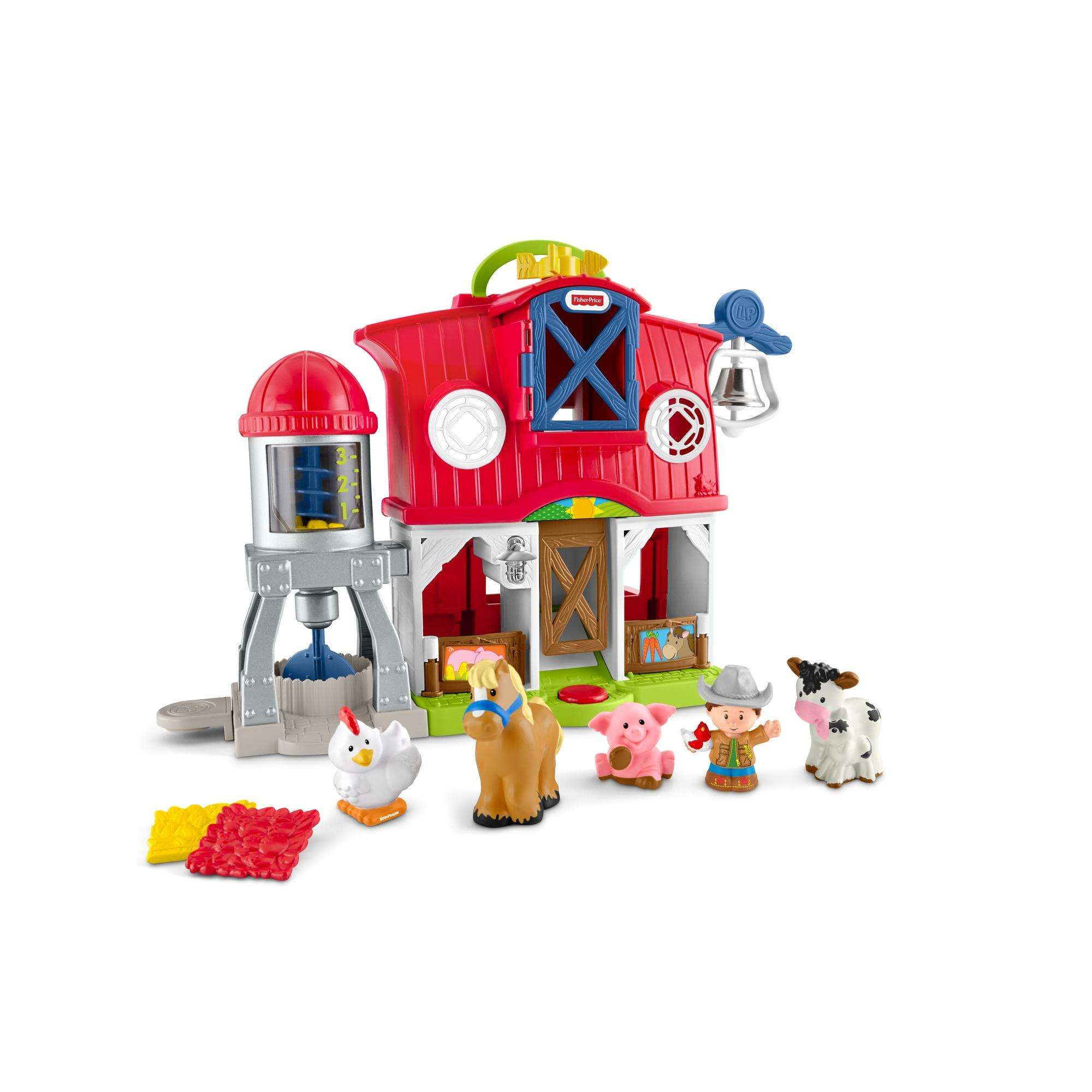 Little People Caring For Animals Farm Playset with Farmer Jed Figure by Fisher-Price