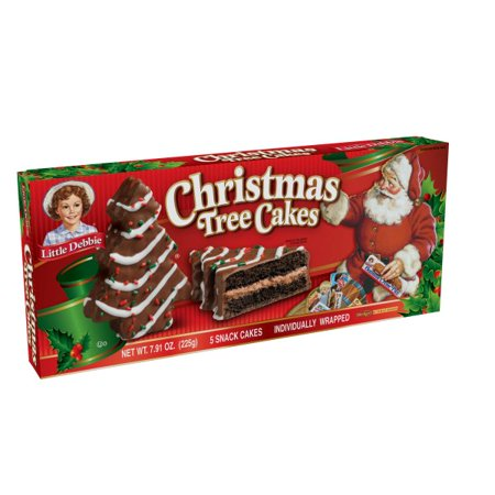 Little Debbie Family Pack Christmas Tree Cakes Chocolate Snack Cakes