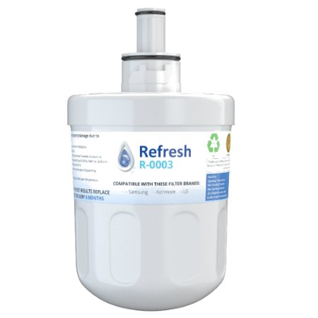 Replacement For Samsung RFG237AARS Refrigerator Water Filter - by Refresh