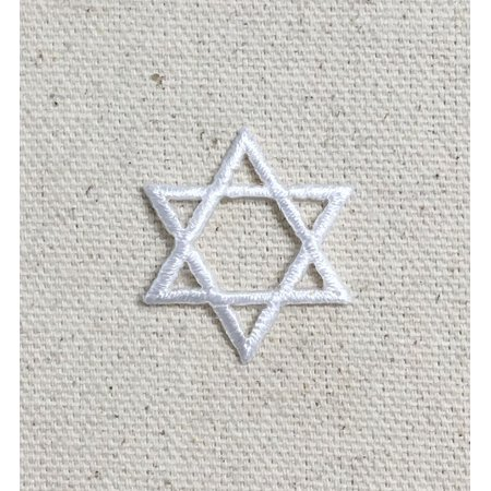 Small Stars (Small - WHITE - Hannukah - Jewish Star of David - Iron onApplique/Embroidered)