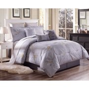 B-Y345 3-Piece Fresh Floral Pattern King Cotton Duvet Cover Bed Set For Comforter with Hidden Zipper Closure On Side
