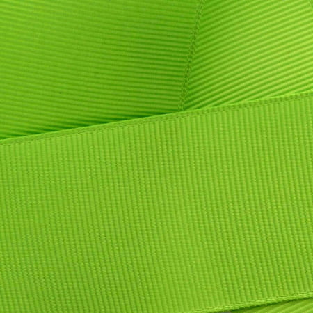 "7/8"" Grosgrain Ribbon Solid 550 Apple Green 5yd"