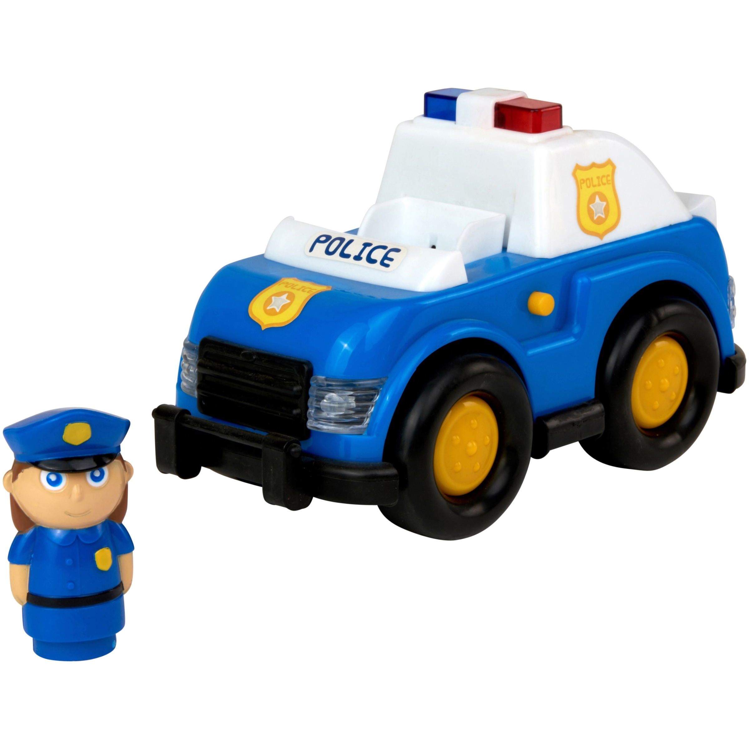 Kid Connection Light & Sound My First Vehicle Toy Police Car with Figure