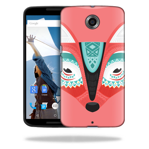 MightySkins Snap-On Protective Hard Case Cover for Motorola Google Nexus 6 Aztec Fox