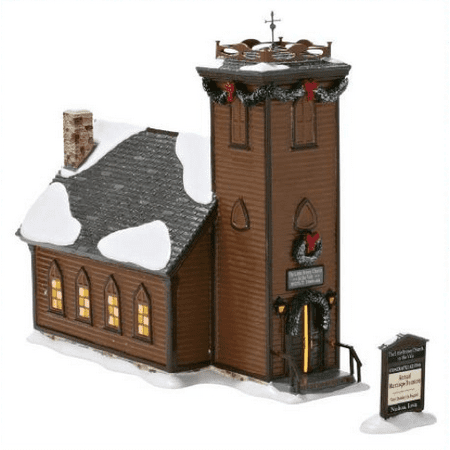 Department 56 Snow Village The Little Brown Church NIB Retired