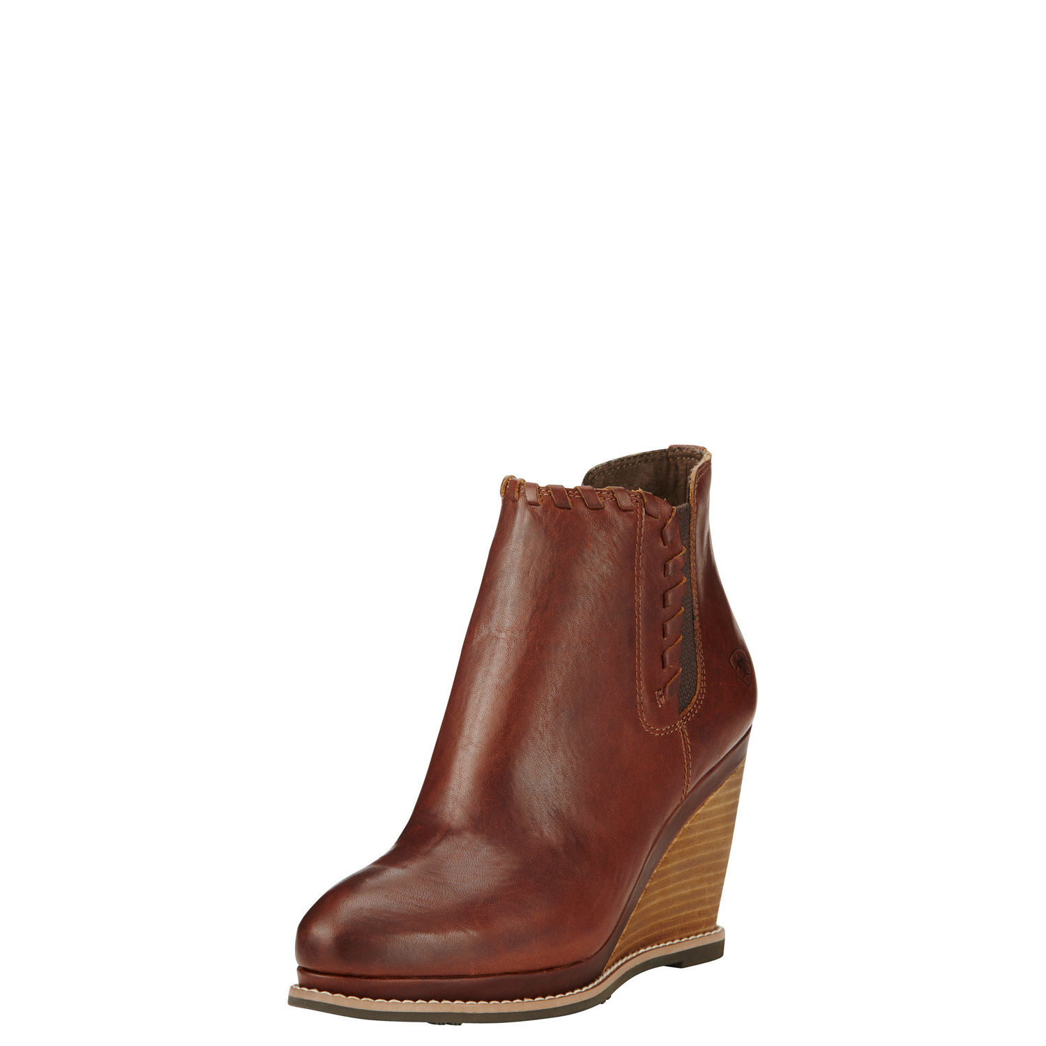 Ariat Belle Women Round Toe Leather Brown Ankle Boot by Ariat