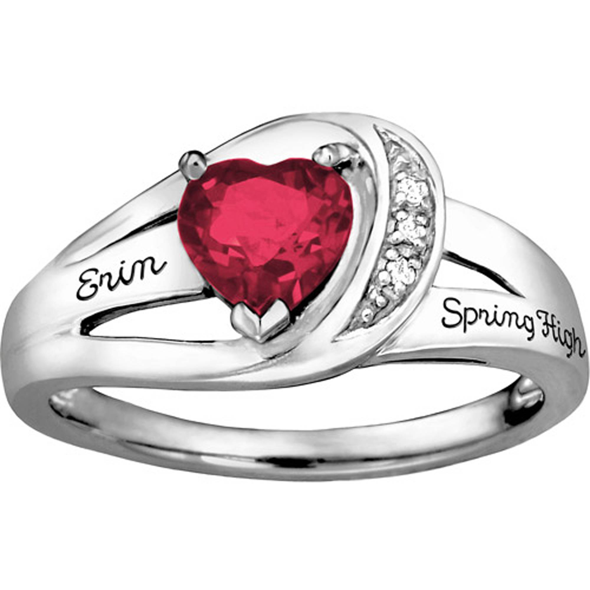 Keepsake Girl's Ribbon Heart Fashion Class Ring