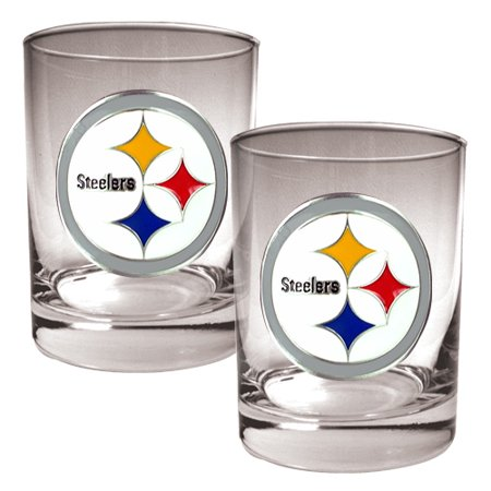 Pittsburgh Steelers Rocks Glass - Pittsburgh Steelers 14oz. Rocks Glass Set - No Size