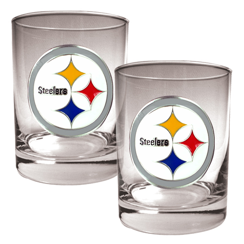 Pittsburgh Steelers 14oz. Rocks Glass Set - No Size