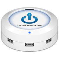 ChargeHub X5 5-Port USB SuperCharger, Round, Multiple Colors Available