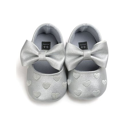 Nicesee Bowknot Soft Crib Shoes - Baby Pink Toms