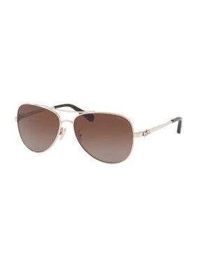 06fea70c04 Product Image Coach Women s HC7074 9310T5 59 Brown Gradient Polar Metal Aviator  Sunglasses