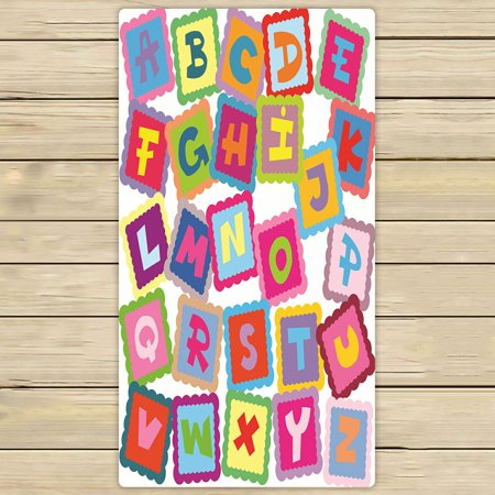 Abp Bath (PHFZK Educational Towel, ABC Alphabet Fun Learning Chart Hand Towel Bath Bathroom Shower Towels Beach Towel 30x56 inches )