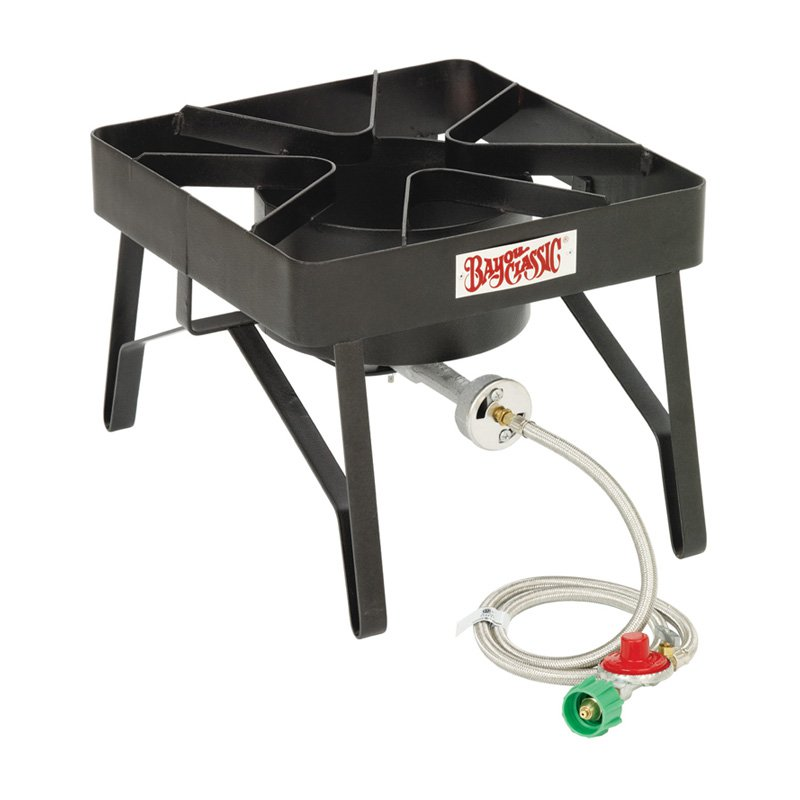 "Bayou Classic Bayou Brew Cooker, Black - 16"" x 16"" Cooking Surface"
