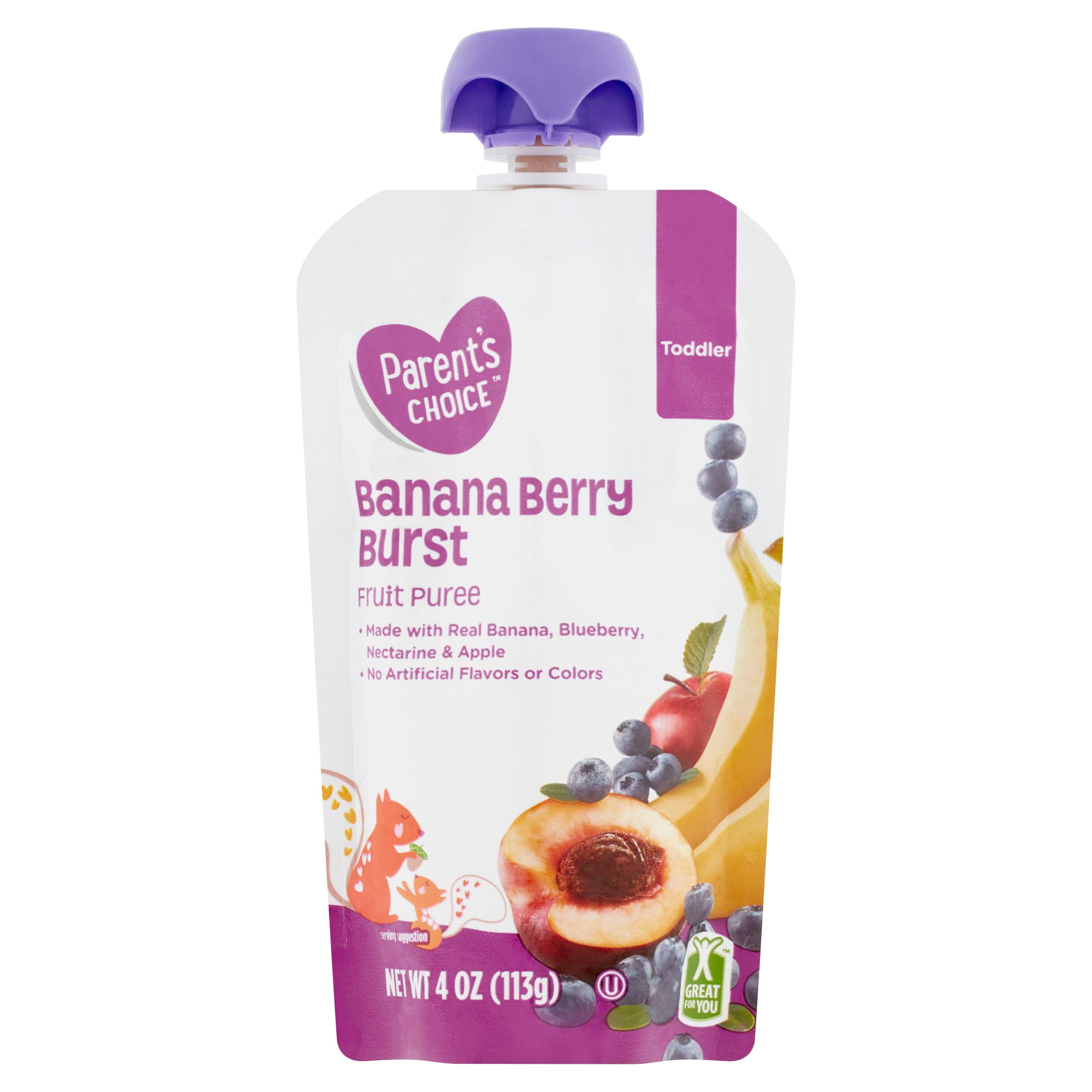 Parent's Choice Banana Berry Burst, Toddler, 4 oz Pouch