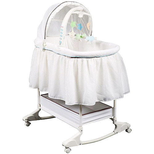 Fisher-Price - My Little Lamb Rocking Bassinet, Tan
