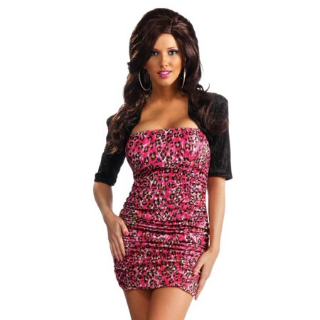 Rubies Snooki Jersey Shore Pink Leopard Dress Sexy Halloween Costume - Halloween Bar Events South Jersey