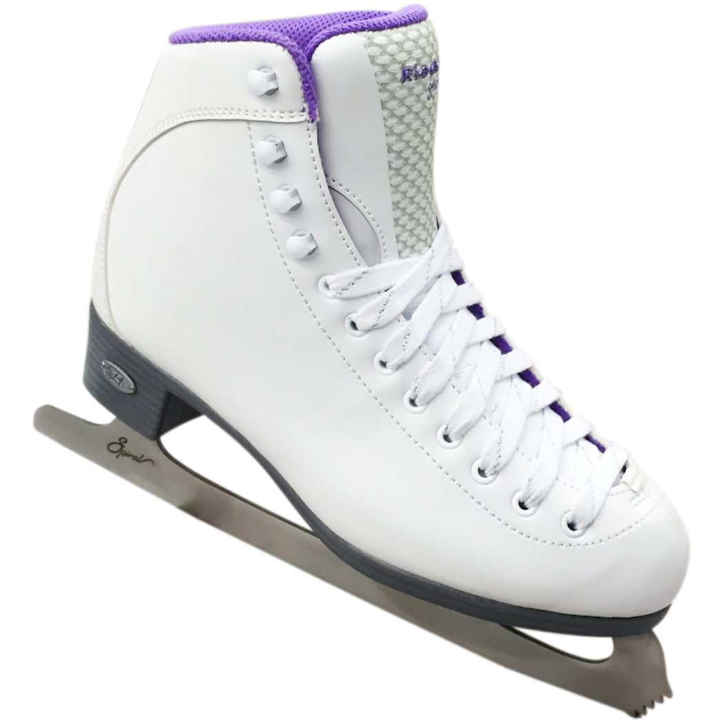 Click here to buy Riedell 18 Sparkle Figure Skates With Spiral Blades by Riedell.