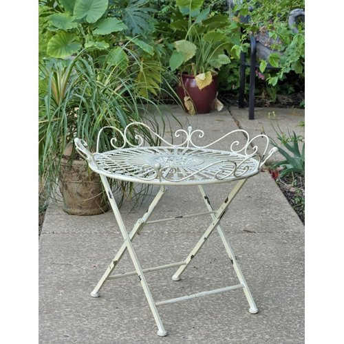 August Grove Maura Folding  Metal Bistro Table