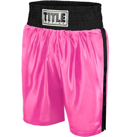 Knee Boxing Trunks (Title Boxing Classic Edge Satin Performance Boxing Trunks )