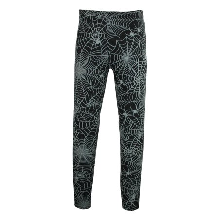 Halloween Leggings Womens (Women's Halloween Spider Web Print)
