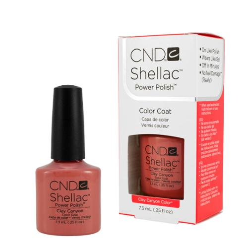 CND Shellac 0.25 Oz Nail Polish Gel UV Brown, CLAY CANYON, 541