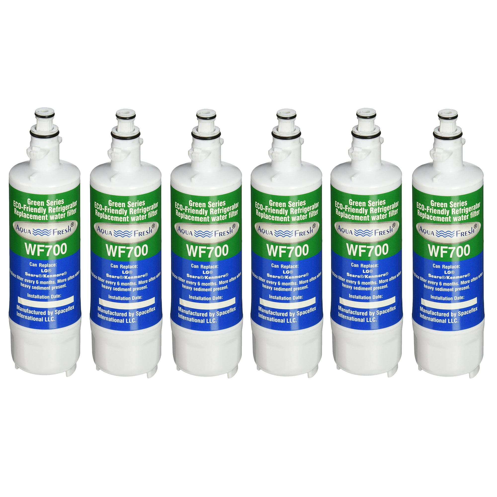 Replacement Aqua Fresh LT700P Replacement Water Filter For LG & Kenmore Refrigerators (6 Pack)