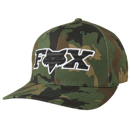 (Fox Racing Men's Encumber Flexfit Hat Camo Green Headwear Baseball Cap Apparel S/M)