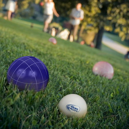 Bocce Ball Set- Regulation Outdoor Family Bocce Game and Carrying Case by Hey! Play! (Bud Light)